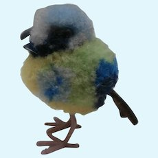 Gorgeous Tiny Steiff Wool Pompom Bird, No Id's