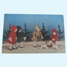 Kathe Kruse Dolls 1930's Postcard.,
