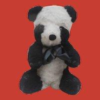 Jingle Vintage Panda Teddy Bear, Musical Jingle
