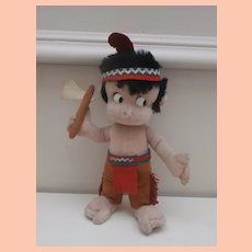 Vintage Schuco / Hegi label,  Apachi, Native American Indian  Bigo Bello Doll 1960 to 1970
