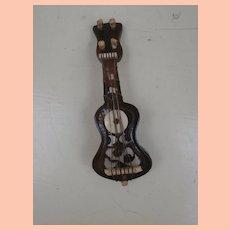 Sweet Vintage Guitar Brooch