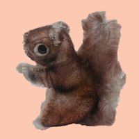 Smallest Size Steiff Perri Squirrel, No Id's , 1965 to 1970