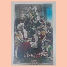 Early Postcard Christmas Tree and Toys, Christmas.