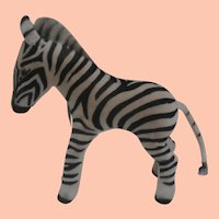 Wonderful Steiff Zebra, , Steiff Chest Tag, 1959 to 1964.