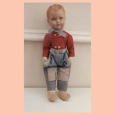 Vintage Deans Dutch Boy Doll, Label