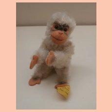 Gorgeous Miniature Steiff Jocko Monkey , Steiff Button, 1959 to 1966