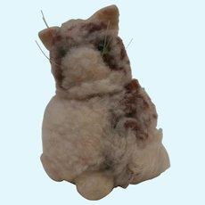 Steiff Wool Pompom Cat, No Id's 1954 to 1963