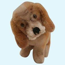 Steiff Smallest Size Basset Hound Dog , 1961 to 1963, No Id's