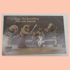 Early Teddy Bear Postcard 1912