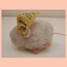 Steiff Wool Pompom Mouse , Steiff Button, 1968 to 1974