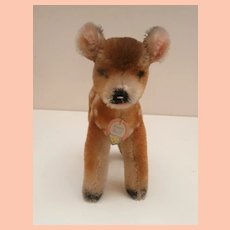 Sweet Steiff Fawn , Chest Tag 1954 to 1969