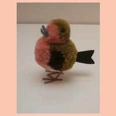 Steiff Miniature Wool Pompom Bird 1968 to 1974, No Id's