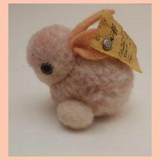 Steiff Miniature Wool Pompom Rabbit, Steiff Button 1968 to 1974