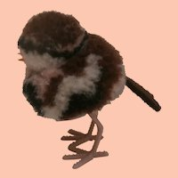 Steiff Tiny Wool Pompom Bird 1959 to 1963, No Id's