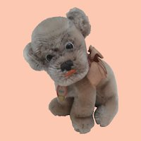 Smallest Steiff Mopsy Bull  Dog Puppy, 1968 to 1970, Steiff Button and Steiff Chest Tag
