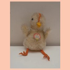 Steiff Chick , 1955 to 1959, Steiff Button, Chest Tag, A/F
