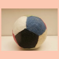 Well Loved Steiff Ball, No Id's 1968 to 1982