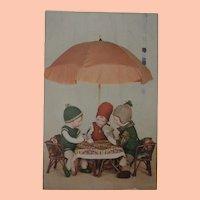 Early Postcard, Rare Kathe Kruse Dolls, 1930