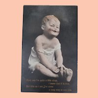 Early All Bisque Character Doll Postcard