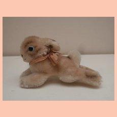 Gorgeous Small Steiff Lying Rabbit, 1959 to 1964, Steiff Button