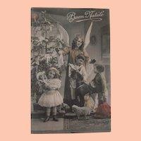 Early Christmas Postcard 1912, Dolls, Toys