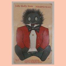 Early Novelty Postcard, Black Cloth Doll, Views of Hamstead