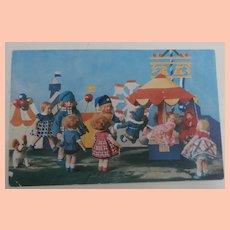 Lenci Doll Postcard 1930's