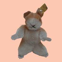 Steiff Smallest Goldy Hamster 1955 to 1958, Steiff Button