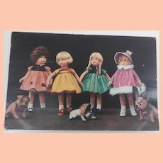 Fabulous Mutzipuppen Cloth Dolls and Bull Dogs, Postcard 1929