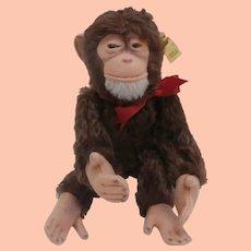 Steiff Jocko Monkey, Steiff Button 1968 to 1981.