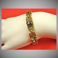 Victorian Revival Style Rhinestone Bracelet by Goldette