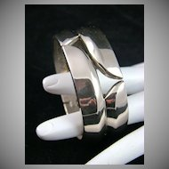 SALE Polished Silvertone Clamper Bracelet