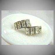 Princess Cut Rhinestone Earrings