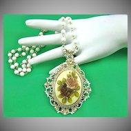 Victorian Style Florenza Pendant Necklace