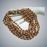 Stunning 50s Mauve Sugar Bead and Imitation Pearl Demi Parure
