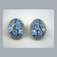 Stunning Blue Austrian Crystal Earrings