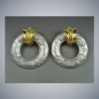 Erwin Pearl Dynamic Diva Hoop Earrings