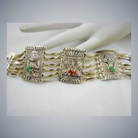 900 Silver South American Tribal Bracelet
