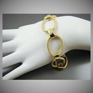 Gold Tone Oval Link Bracelet