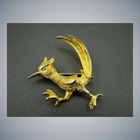Castlecliff Road Runner Brooch