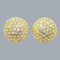 Blanca Swarovski Crystal Button Earrings