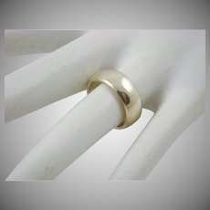 Plain Sterling Wedding Band or Right Hand Ring