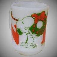 Hard-To-Find Fire King Snoopy Noel Mug ~ 1958