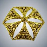 Benedikt NY Victorian Style Brooch/Pendant