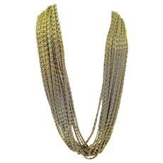 Kramer of New York 15-Strand Snail Chain Necklace