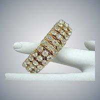 Rare Gold Tone Empire Made Expansion Bracelet Circa 50s