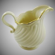 Large Lenox Creamware Cream Pitcher House Warming Pattern