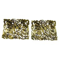 Golden Victorian Style Musi Shoe Clips