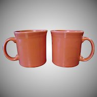 Retired Homer Laughlin Fiestaware Flamingo Mugs