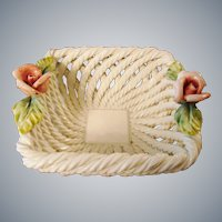 Decorative Capodimonte Style Basket ~ Made in Italy